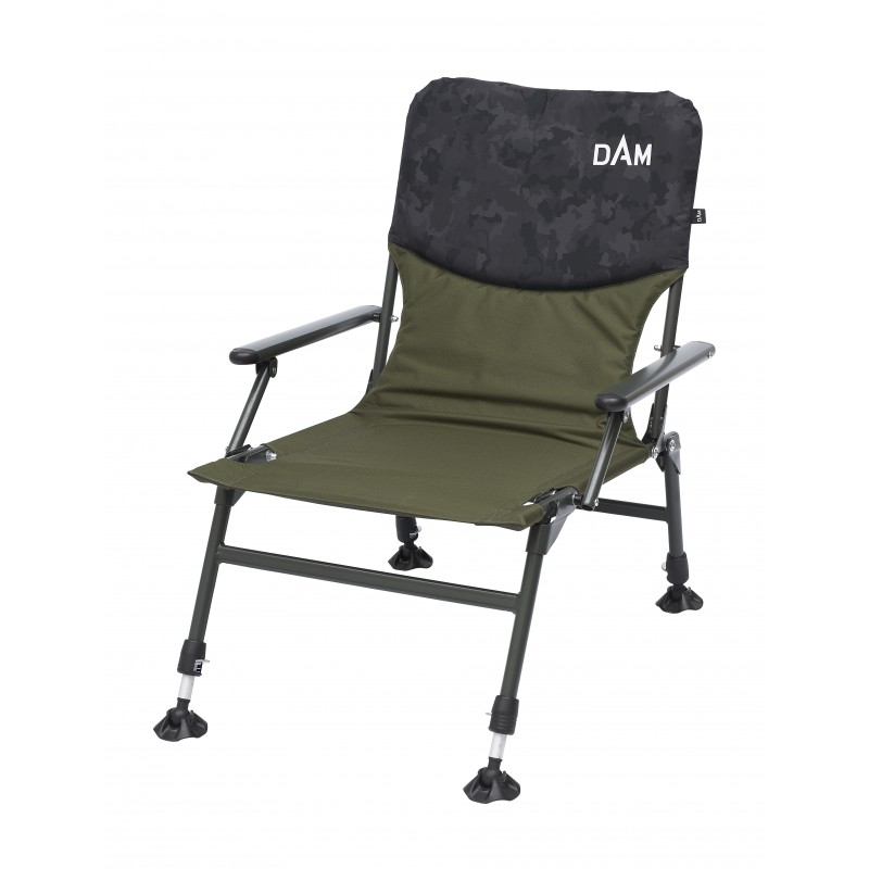 Kėdė DAM CAMOVISION COMPACT CHAIR WITH ARMRESTS STEEL