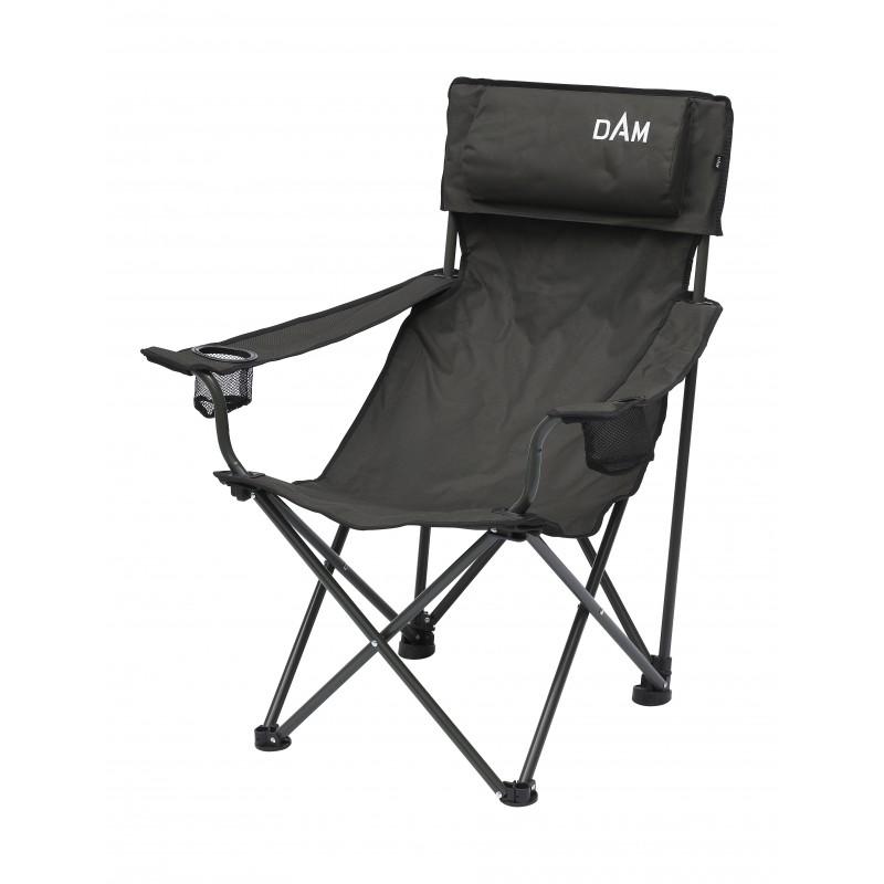 Kėdė DAM FOLDABLE CHAIR WITH BOTTLE HOLDER STEEL