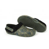 Zābaki Fox Chunk Camo fleece clog
