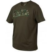 Marškinėliai Fox CHUNK Khaki / Camo Print T