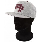 Cepure ar snīpi Fox Chunk Grey/Burgundy Twill Baseball Cap