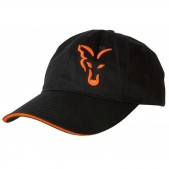 Kepurė su snapeliu Fox Black / Orange Baseball Cap